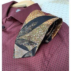 Dior Vintage Trending Italian Silk Tie Fall Leaf